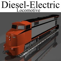 diesel-electric locomotive 3d lwo