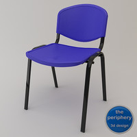 reception chair design 3d model