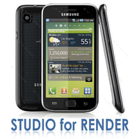 Samsung GALAXY S I9000 and STUDIO for RENDERING