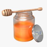 Honey Jar and Stirrer