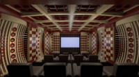 american home theater 3d max