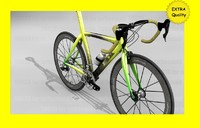 highres bicycle road 3d model