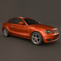 3d bmw 1 coupe model