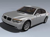 2002 bmw 7 sedan 3d model