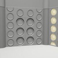 Doctor Who TARDIS console room walls 1982