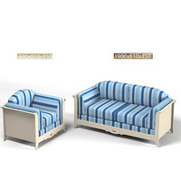 3d minacciolo sofa chair model