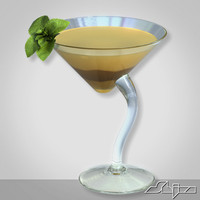 3d model baileys chocolate cocktail