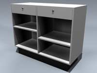 retail sales counter 3d model