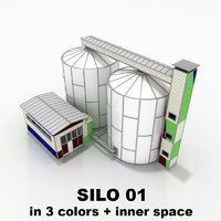 silo 01 industrial structure 3d max