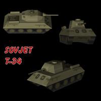 tank army 3d model