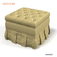 volpi 2184 diletta classic tufted pouf buttoned ottoman