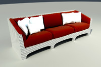 maya wicker sofa