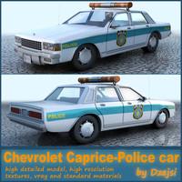 police car chevrolet caprice 3d model