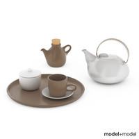 heath ceramics tea set 3d 3ds