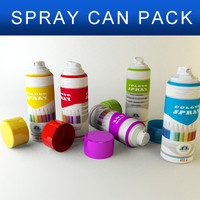 3d pack spray cans