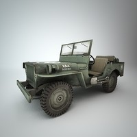 3d jeep willys
