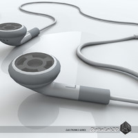3d apple earphones