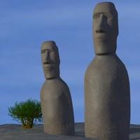 3D Easter Island Head