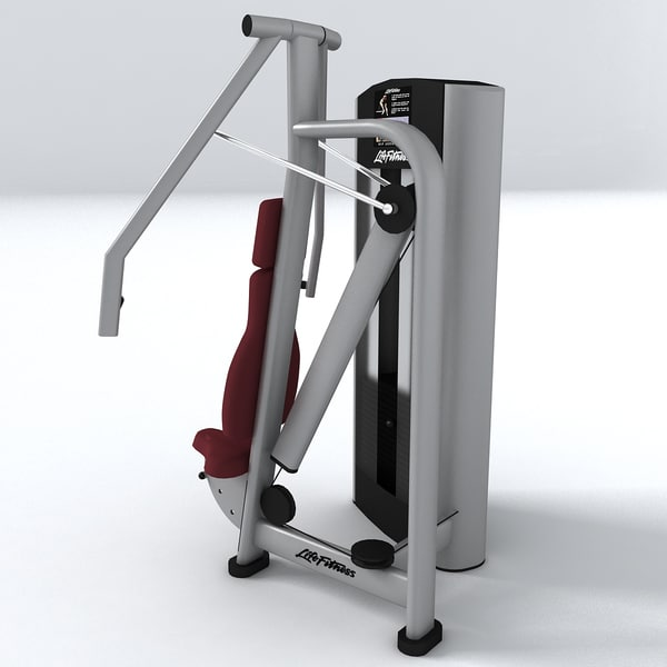 gym equipment chest press 3d model - Chest press... by vgreso