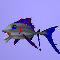 3d fish rigged