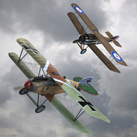 Sopwith Camel & Albatros DIII WW1 Airplane Collection(1)