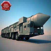 RT-2UTTKh Topol M ballistic missiles launcher
