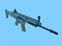 free scar-l rifle 3d model