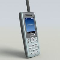 satellite phone 3d model