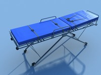 3d ambulance stretcher model