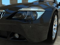 bmw 6 series car 3d max