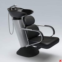 3ds barber chair