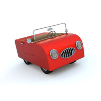 3ds max cute cartoon car