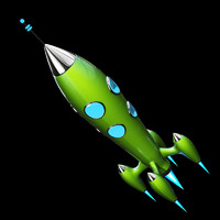 Retro Rocket Green