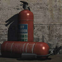 extinguisher prop 3d model