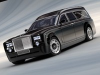 funeral car rolls royce 3d model
