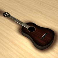 acoustic guitar obj