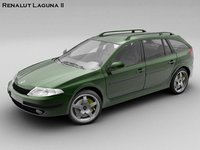 renault laguna ii estate 3d model