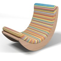 matzform verner panton relaxer modern contemporary rocking chair