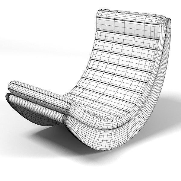 rocking chair 3d models verner panton tags matzform verner panton