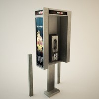 truax studio payphone phone booth 3d 3ds