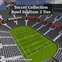 soccer bowl stadium 2 3d model