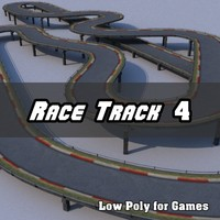 Low Polygon Race Track 4