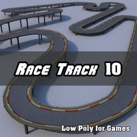 Low Polygon Race Track 10