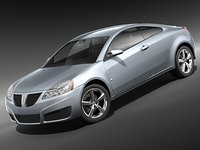 3d model pontiac g6 coupe sport