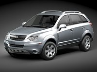saturn vue 2011 suv 3d model