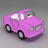 cartoon car cabriolet toon 3d model