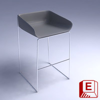 3d scoop stool design