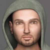 3d rick realistic male