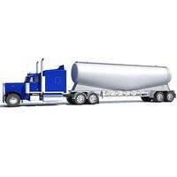 american tanker truck 3d obj