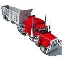 3d american dump truck model
